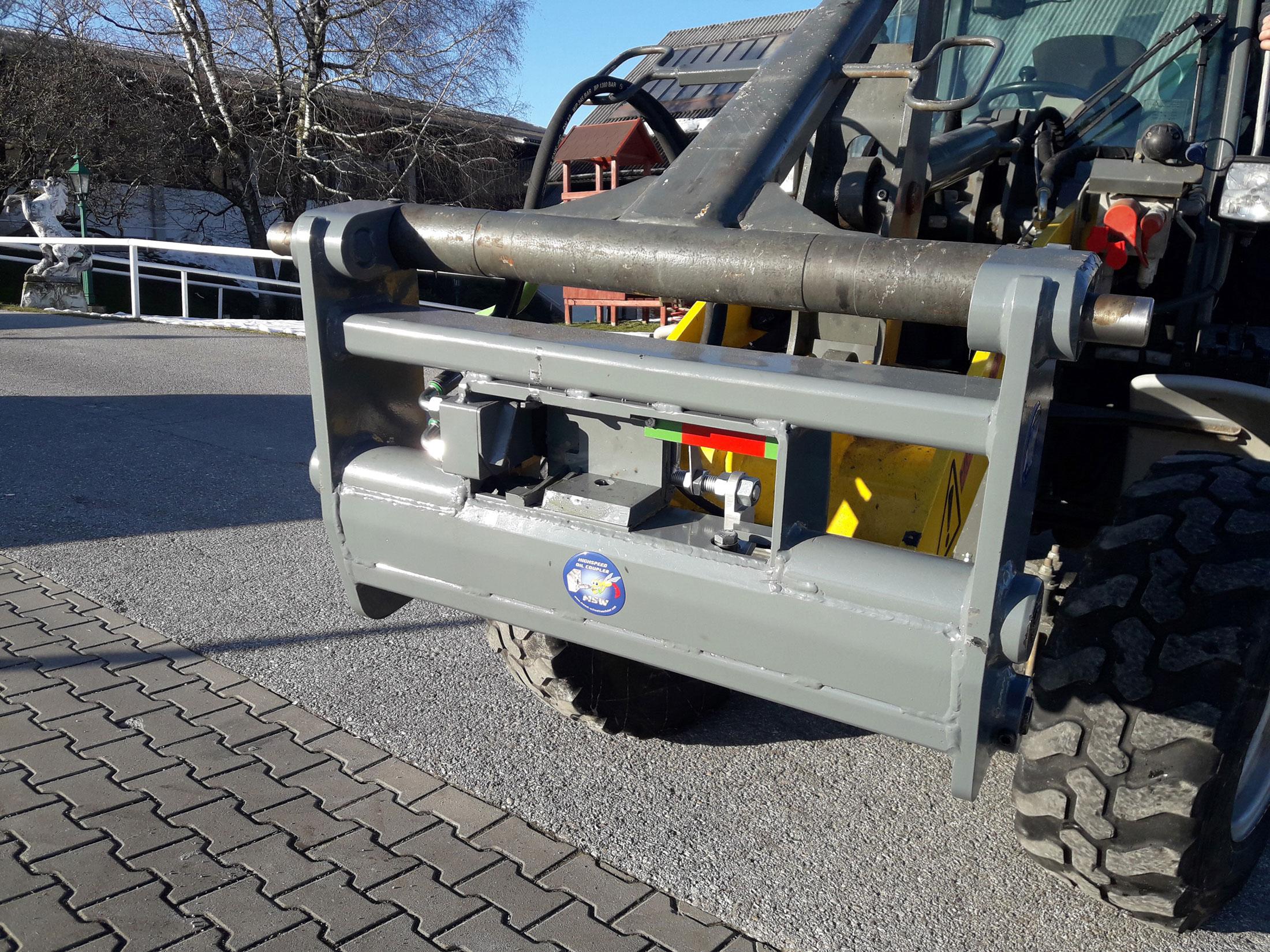 Kramer Radlader 550 mit MSW Highspeed oil coupler
