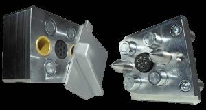 unter Druck Hydraulik- Leitungen - Schläuche kuppeln